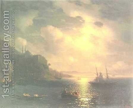 The Bay Golden Horn in Istanbul by Ivan Konstantinovich Aivazovsky - Reproduction Oil Painting
