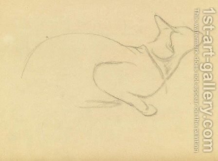 Study of a cat by Theophile Alexandre Steinlen - Reproduction Oil Painting