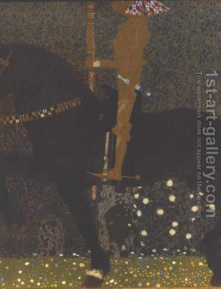 The Golden Knight by Gustav Klimt - Reproduction Oil Painting