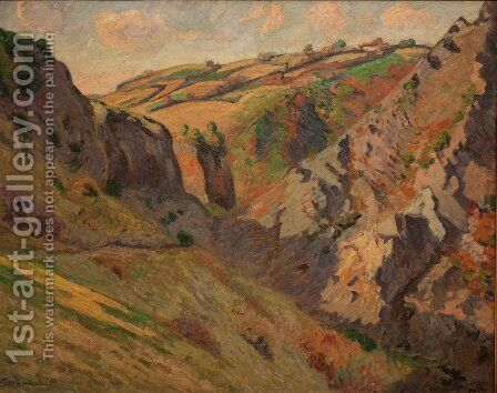 Caves Prunal near Pontgibaud (Auvergne) by Armand Guillaumin - Reproduction Oil Painting