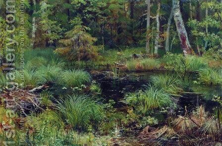 Spring in the forest by Ivan Shishkin - Reproduction Oil Painting