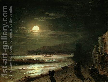 Moon Night by Ivan Konstantinovich Aivazovsky - Reproduction Oil Painting