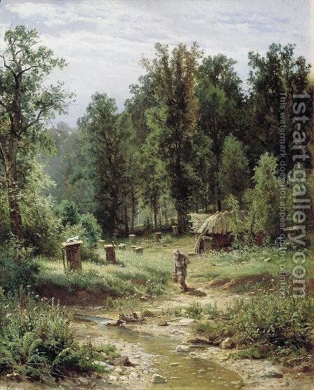 Bee families in the forest by Ivan Shishkin - Reproduction Oil Painting