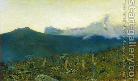 Tatarian cemetery. Crimea. by Isaak Ilyich Levitan - Reproduction Oil Painting