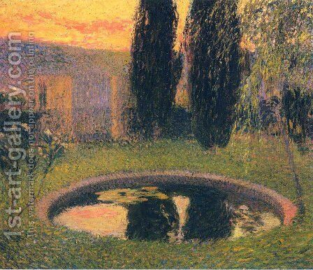 In the Garden by Henri Martin - Reproduction Oil Painting