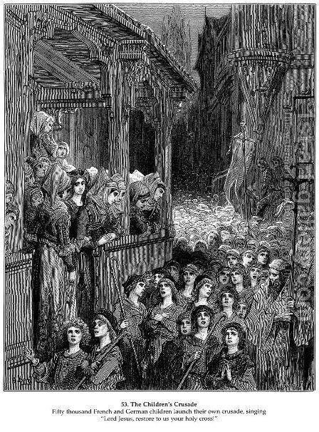 The Children's Crusade in 1212 by Gustave Dore - Reproduction Oil Painting