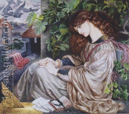 The Pia of Tolomei by Dante Gabriel Rossetti - Reproduction Oil Painting