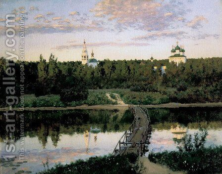 Quiet cloister 2 by Isaak Ilyich Levitan - Reproduction Oil Painting