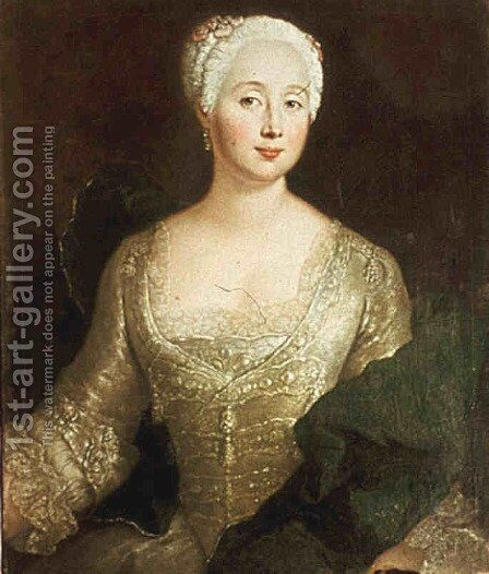 Louise Eleonore von Wreech by Antoine Pesne - Reproduction Oil Painting