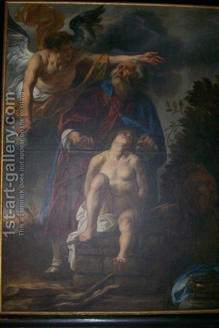 Binding of Isaac by Jacob Jordaens - Reproduction Oil Painting