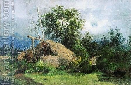 Hovel by Ivan Shishkin - Reproduction Oil Painting
