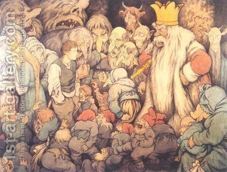 Peer Gynt In the Hall of the Mountain King 2 by Theodor Kittelsen - Reproduction Oil Painting