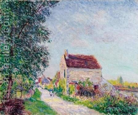 The village of Sablons by Alfred Sisley - Reproduction Oil Painting