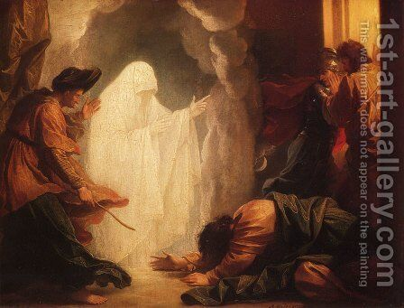 Saul and the Witch of Endor by Benjamin West - Reproduction Oil Painting