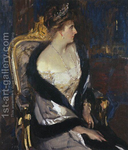Queen Victoria Eugenia of Spain by Joaquin Sorolla y Bastida - Reproduction Oil Painting