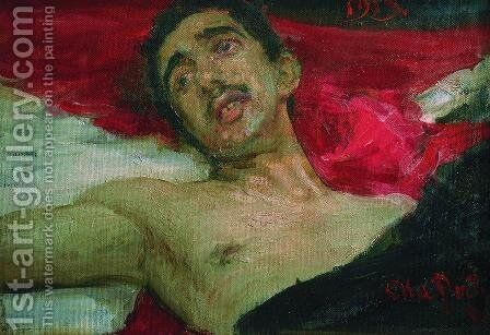 Wounded man by Ilya Efimovich Efimovich Repin - Reproduction Oil Painting