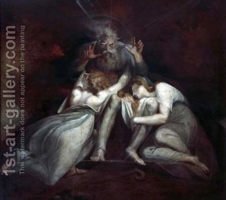 The Death of Oedipus by Johann Henry Fuseli - Reproduction Oil Painting