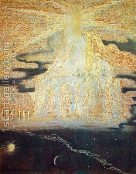 Hymn (II) by Mikolajus Ciurlionis - Reproduction Oil Painting