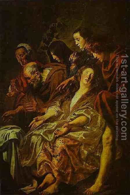 Holy Women at the Sepulchre by Jacob Jordaens - Reproduction Oil Painting
