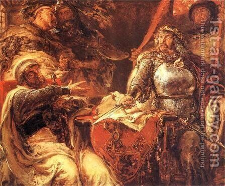 Wladyslaw the Short by Jan Matejko - Reproduction Oil Painting