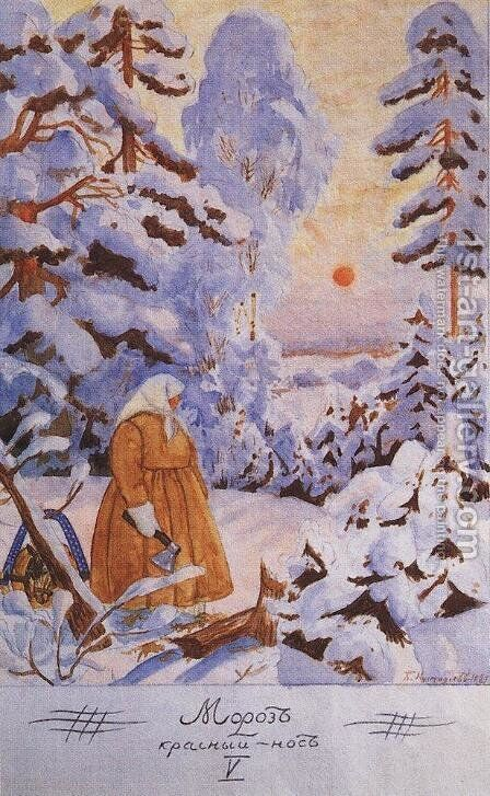 Frost-governor by Boris Kustodiev - Reproduction Oil Painting