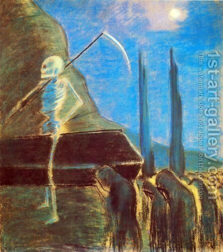 Funeral Symphony (V) by Mikolajus Ciurlionis - Reproduction Oil Painting