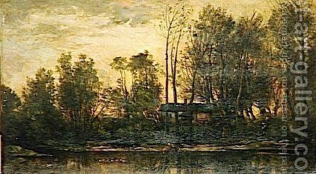Sunset, Lower Meudon by Charles-Francois Daubigny - Reproduction Oil Painting