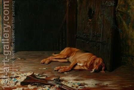 The Last of the Garrison by Briton Rivière - Reproduction Oil Painting
