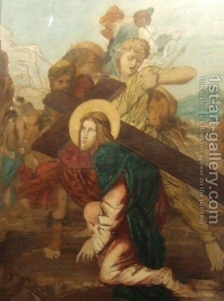 Third Station of the Cross by Gustave Moreau - Reproduction Oil Painting