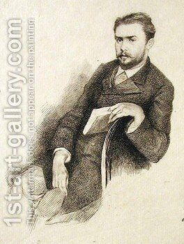Portrait of Gustave Geffroy by Marie Bracquemond - Reproduction Oil Painting