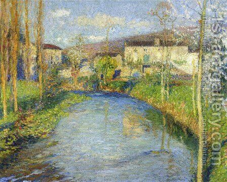 The Green Lot by Henri Martin - Reproduction Oil Painting