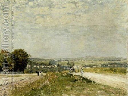 The Road to Louveciennes Montbuisson by Alfred Sisley - Reproduction Oil Painting