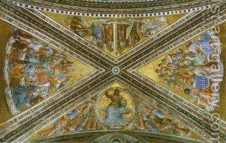 View of the chapel vaulting 2 by Angelico Fra - Reproduction Oil Painting