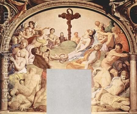 Adoration of the Cross with the Brazen Serpent by Agnolo Bronzino - Reproduction Oil Painting