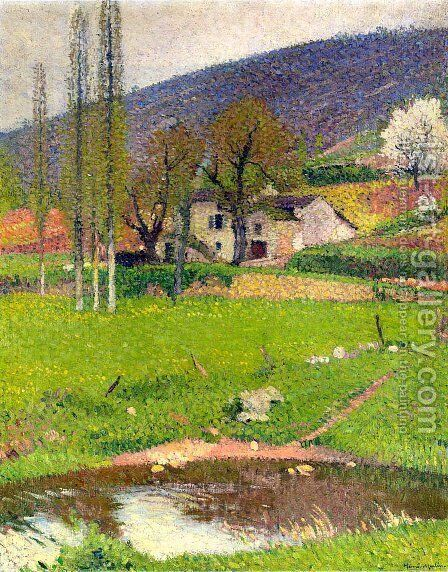 Landscape near Toulouse 2 by Henri Martin - Reproduction Oil Painting