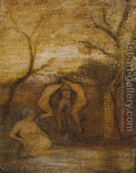 Dancing Dryads by Albert Pinkham Ryder - Reproduction Oil Painting