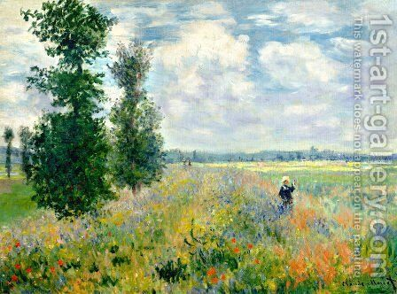 Poppy Field, Argenteuil by Claude Oscar Monet - Reproduction Oil Painting