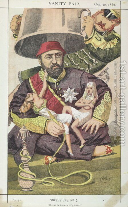 Sovereigns No.50 Caricature of Sultan Abdul Aziz of Turkey by James Jacques Joseph Tissot - Reproduction Oil Painting