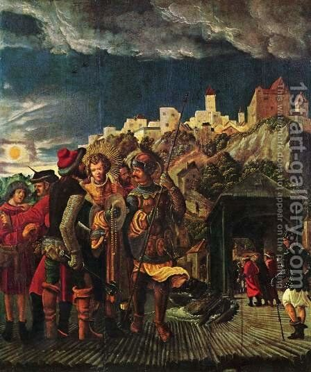 Florian result, scenes for legend of St. Florian by Albrecht Altdorfer - Reproduction Oil Painting