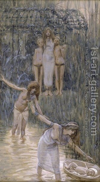 Pharaoh's Daughter Has Moses Brought to Her by James Jacques Joseph Tissot - Reproduction Oil Painting