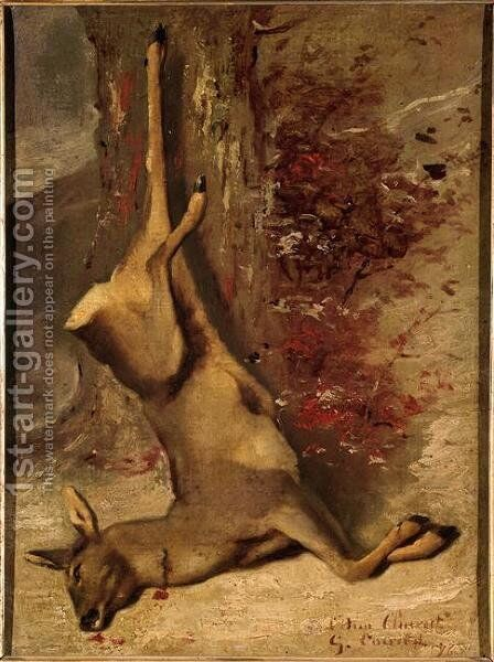 The Deer by Gustave Courbet - Reproduction Oil Painting