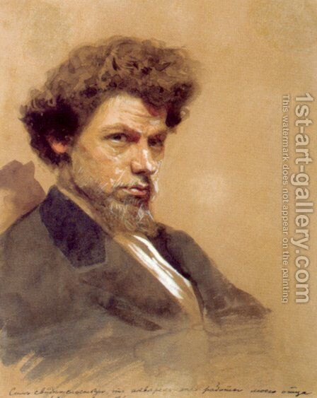 Portrait of the Artist V.M. Maksimov by Ivan Nikolaevich Kramskoy - Reproduction Oil Painting