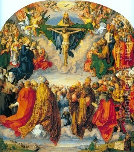 All Saints picture by Albrecht Durer - Reproduction Oil Painting