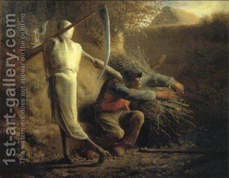 Death and the woodcutter by Jean-Francois Millet - Reproduction Oil Painting