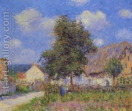Small Farm at Vaudreuil by Gustave Loiseau - Reproduction Oil Painting