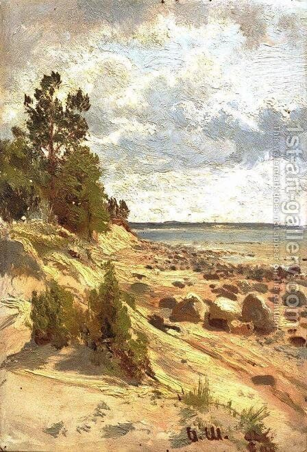 Beach 2 by Ivan Shishkin - Reproduction Oil Painting