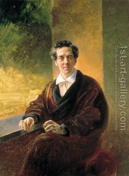 Portrait of Count A. A. Perovsky (the Writer Anton Pogorelsky) by Karl Briullov - Reproduction Oil Painting