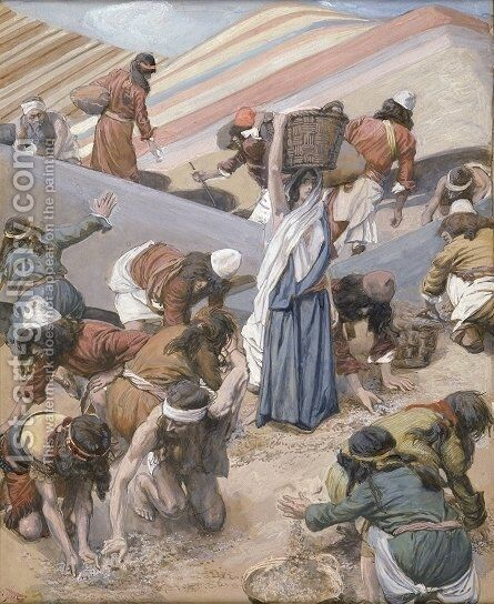 The Gathering of the Manna by James Jacques Joseph Tissot - Reproduction Oil Painting