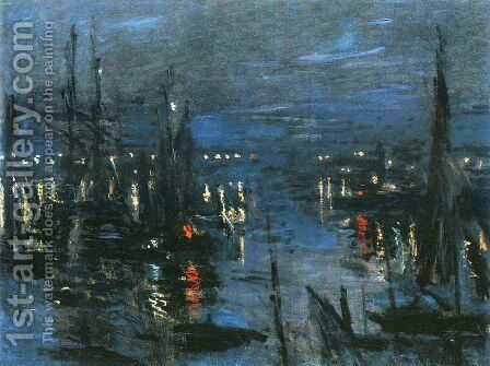 The Port of Le Havre, Night Effect by Claude Oscar Monet - Reproduction Oil Painting