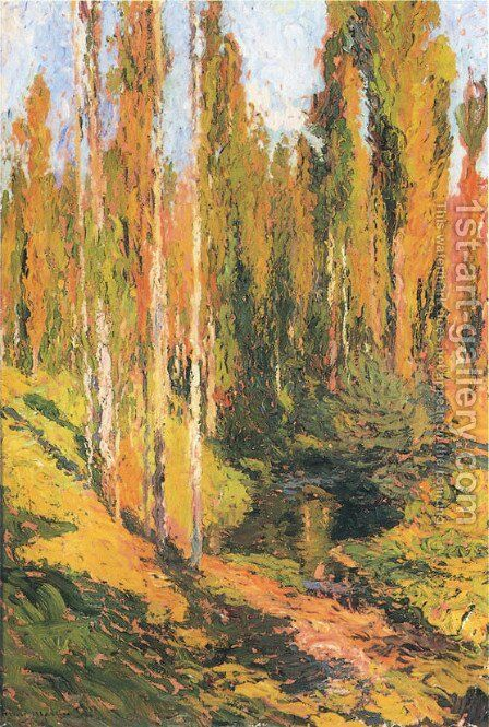 Sous Bois by Henri Martin - Reproduction Oil Painting